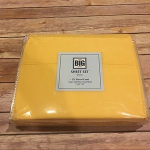 The Big One Twin Sheet Set in Yellow
